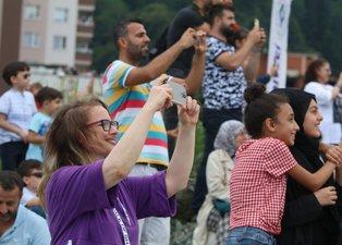 Rize'de muhteşem gösteri! Solo Türk yine nefes kesti