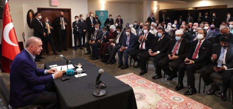 Son dakika: Başkan Erdoğan, ABD'deki Müslüman toplumunun önde gelen temsilcilerini kabul etti