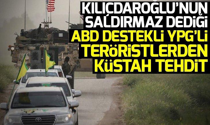 YPG'li teröristler sonları geldikçe tehditlere başladı