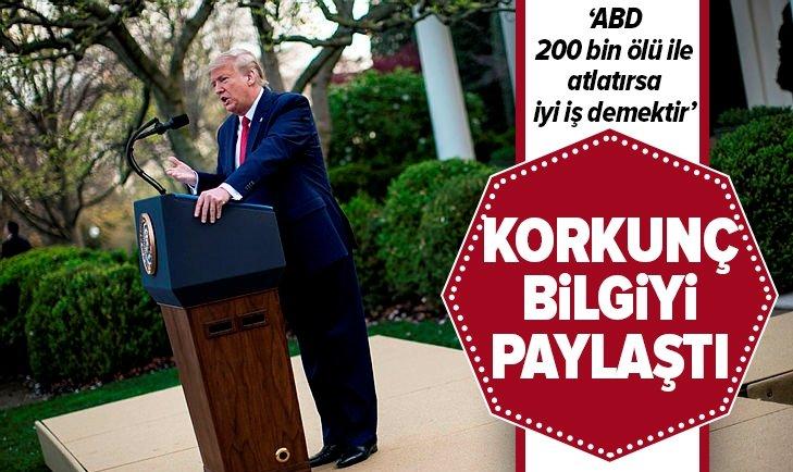 DONALD TRUMP KORKUNÇ BİLGİYİ PAYLAŞTI!