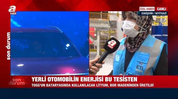 A Haber Türkiye'nin ilk lityum üretim tesisini görüntüledi