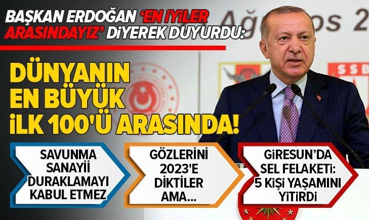 Son dakika: Başkan Erdoğan'dan önemli açıklamalar