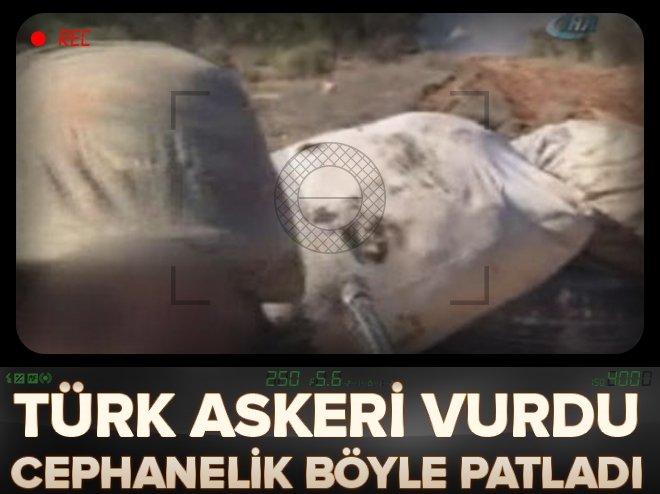 YPG'NİN CEPHANELİĞİ BÖYLE HAVAYA UÇURULDU