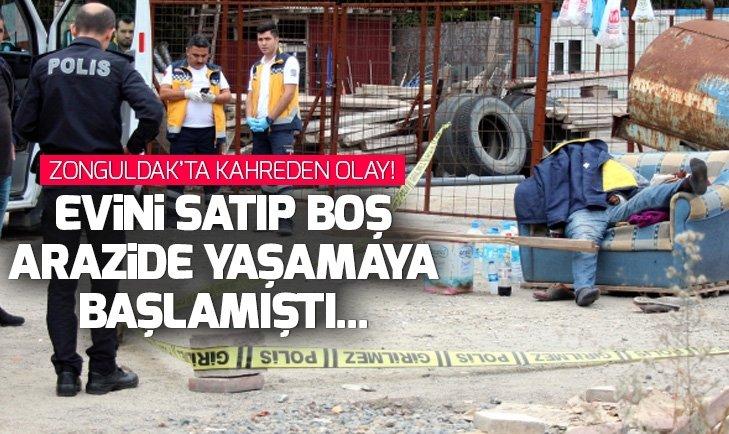 Zonguldak'ta feci olay! Boş arazide ölü bulundu...