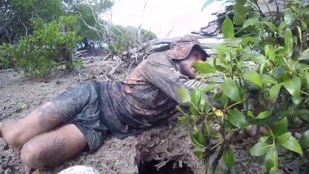 Herkesi şaşırtan taktik! Toprağın altına girdi ve…