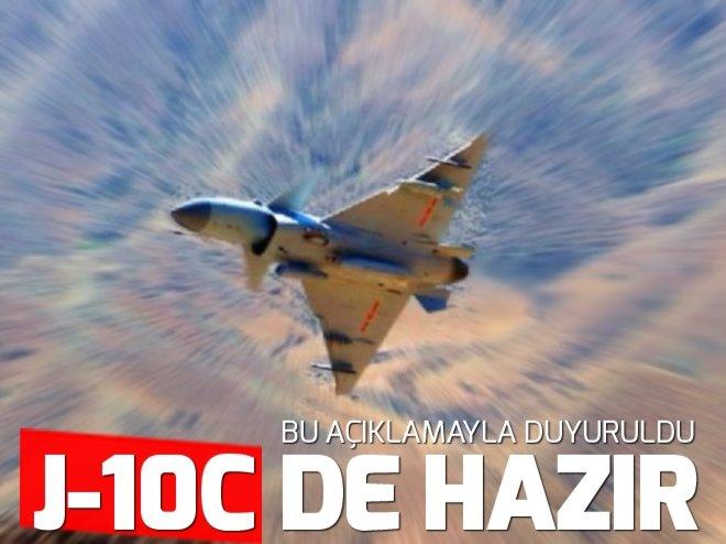 Çin'in yeni savaş uçağı J-10C göreve başladı