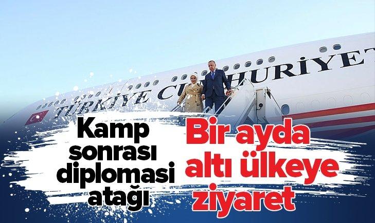 Başkan Erdoğan'dan kamp sonrası diplomasi atağı