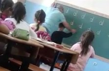 Dayakçı öğretmen gözaltında