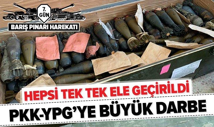 TEL ABYAD'DA YPG-PKK'YA AİT MÜHİMMATLAR ELE GEÇİRİLDİ
