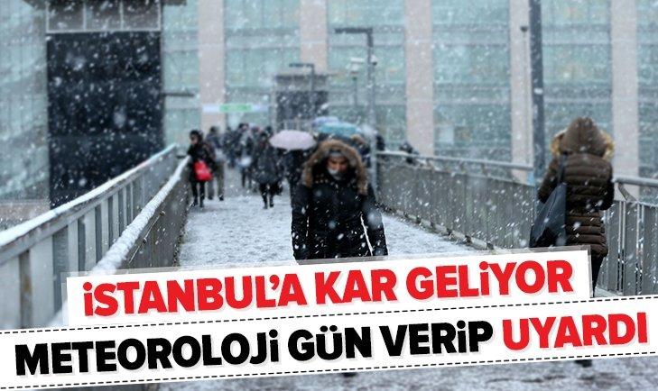 METEOROLOJİ UYARDI! İSTANBUL'A KAR GELİYOR!