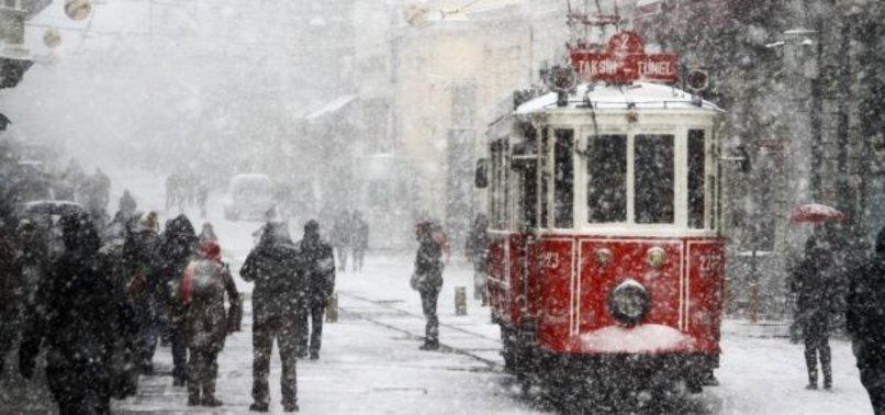 İSTANBUL'A YENİDEN KAR GELİYOR
