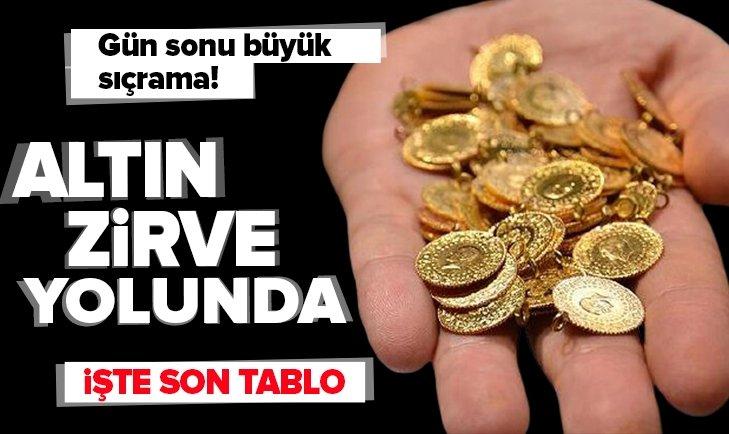Altın zirveye koşuyor! İşte piyasalarda son tablo   SON DAKİKA Gram altın Cumhuriyet altını çeyrek altın fiyatları 13 Ekim 2021