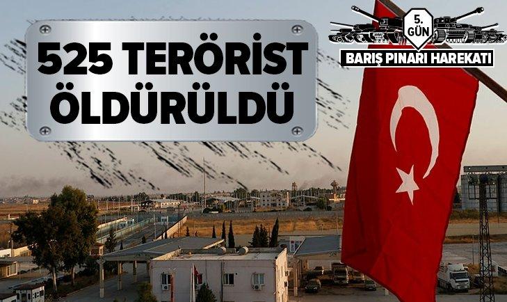 Son dakika: Barış Pınarı Harekatı'nda öldürülen terörist sayısı açıklandı