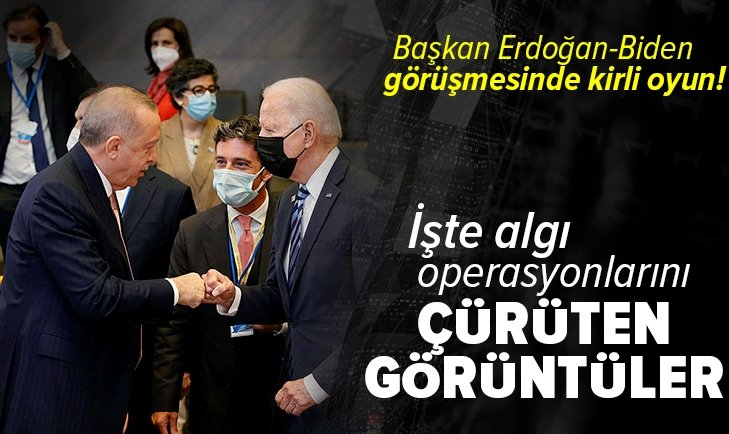 Başkan Erdoğan-Biden görüşmesinde kirli oyun! İşte algı operasyonlarını çürüten görüntüler