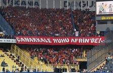 Galatasaraylı taraftarlardan Afrin'e selam!
