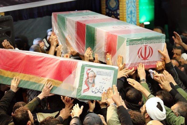 Süleymani'nin cenazesinde izdiham çıktı! Ölen ve yaralananlar var