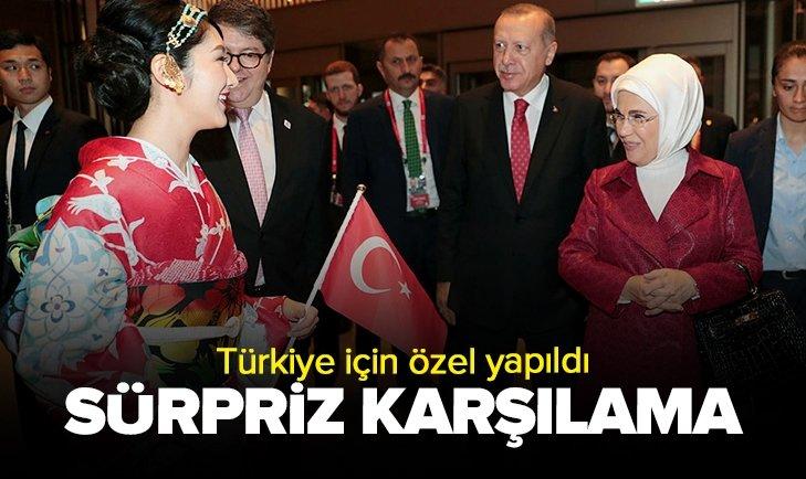 BAŞKAN ERDOĞAN'A SÜRPRİZ KARŞILAMA!