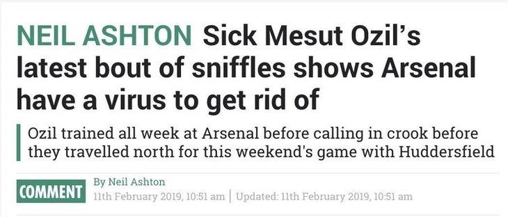 İngiliz medyası Mesut Özil'e saldırdı