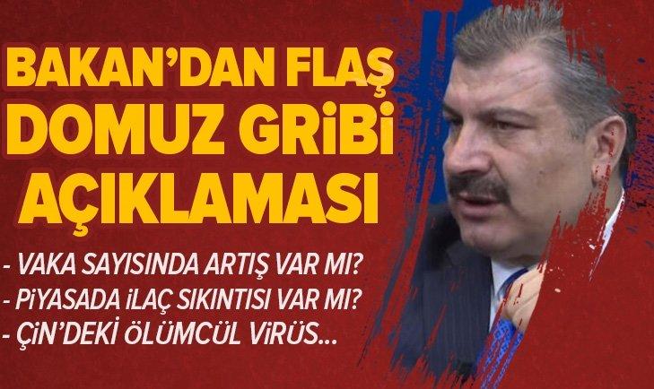 BAKAN'DAN DOMUZ GRİBİ AÇIKLAMASI!