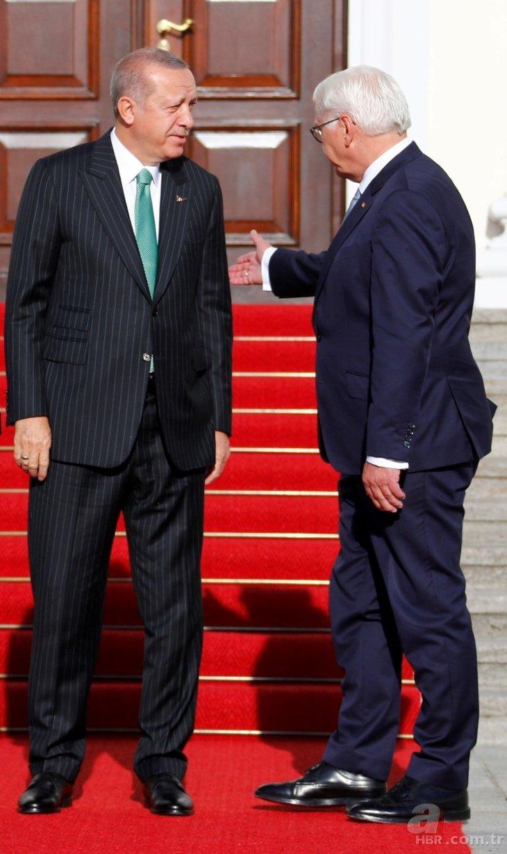 Başkan Erdoğan Almanya'da Steinmeier tarafından böyle karşılandı