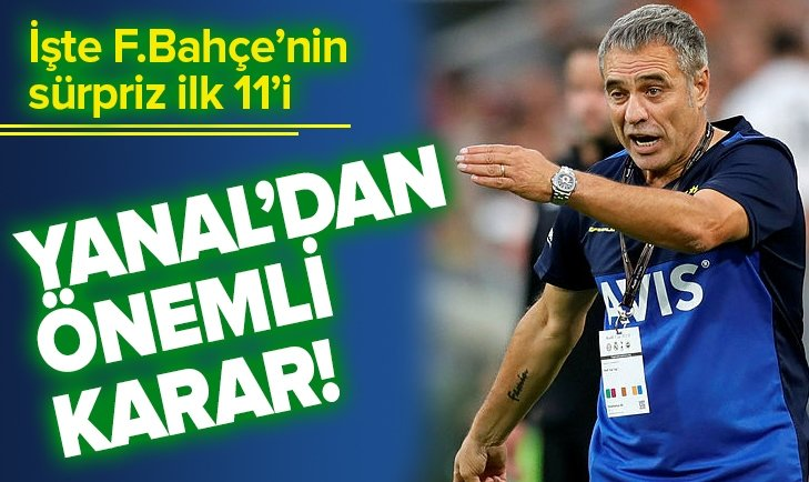 İŞTE FENERBAHÇE'NİN DENİZLİSPOR İLK 11'İ