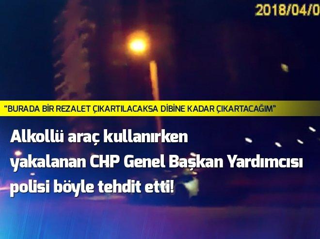 CHP Genel Başkan Yardımcısı Çetin Budak alkollü araç kullanırken yakalandı