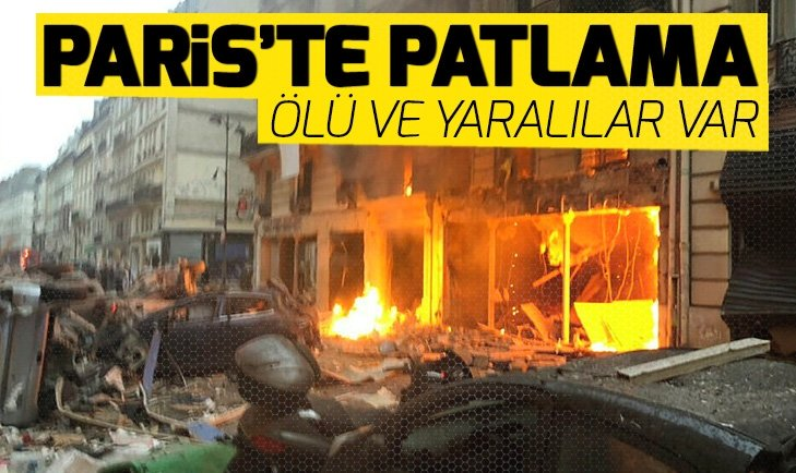 SON DAKİKA: PARİS'TE PATLAMA