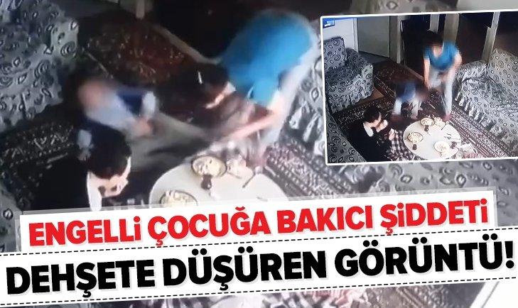 ENGELLİ ÇOCUĞA BAKICI DEHŞETİ!