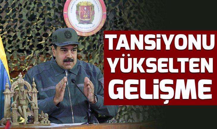 Venezuela'da tansiyonu yükselten gelişme