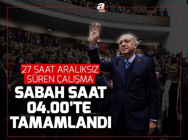 Cumhurbaşkanı Erdoğan'dan milletvekilliği aday listesi için 27 saat aralıksız çalışma