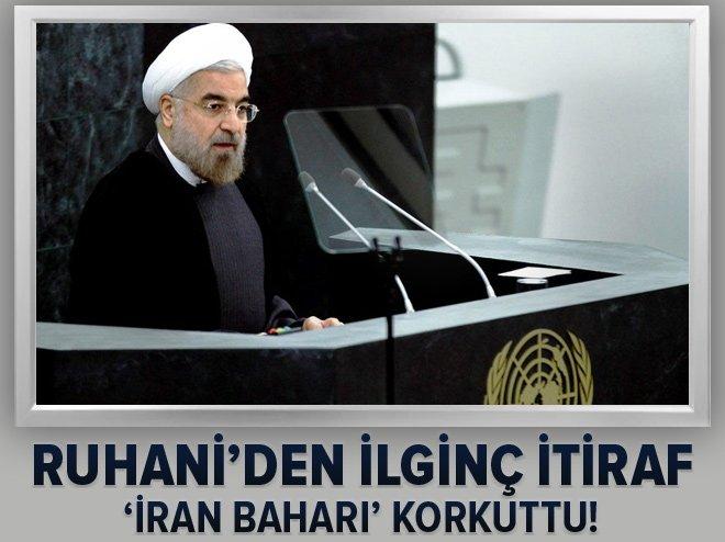 'İRAN BAHARI' RUHANİ'Yİ KORKUTTU! AÇIKLAMA YAPTI