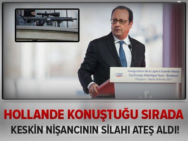 HOLLANDE KONUŞURKEN POLİSİN SİLAHI ATEŞ ALDI