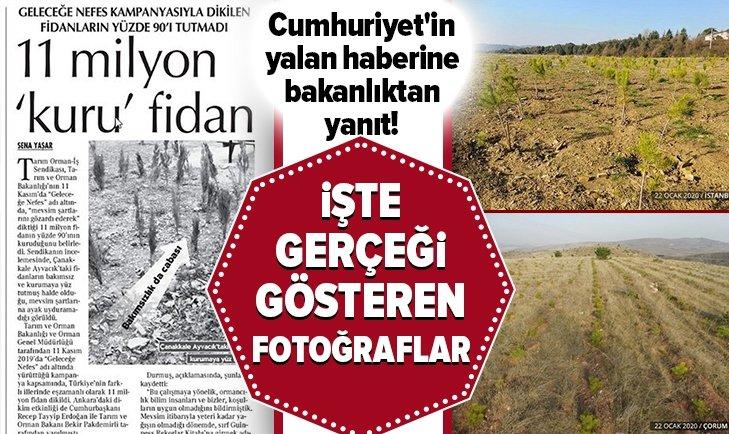 CUMHURİYET'İN YALAN HABERİNE BAKANLIKTAN FLAŞ YANIT!