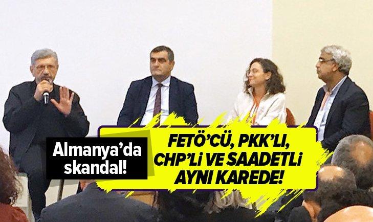 ALMANYA'DA SKANDAL! FETÖ'CÜ, PKK'LI, CHP'Lİ VE SAADETLİ AYNI KAREDE!