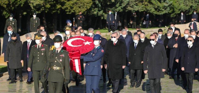 Son dakika: Başkan Erdoğan ve devlet erkanı Anıtkabir'de