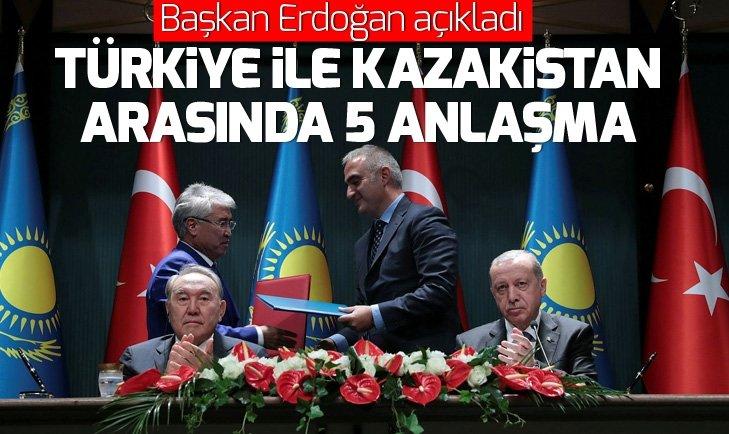 TÜRKİYE VE KAZAKİSTAN'DAN 5 ANLAŞMA...