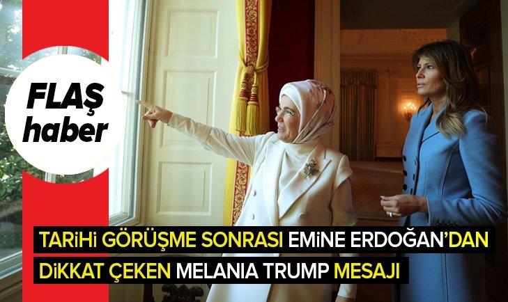 EMİNE ERDOĞAN'DAN MELANİA TRUMP'A TEŞEKKÜR