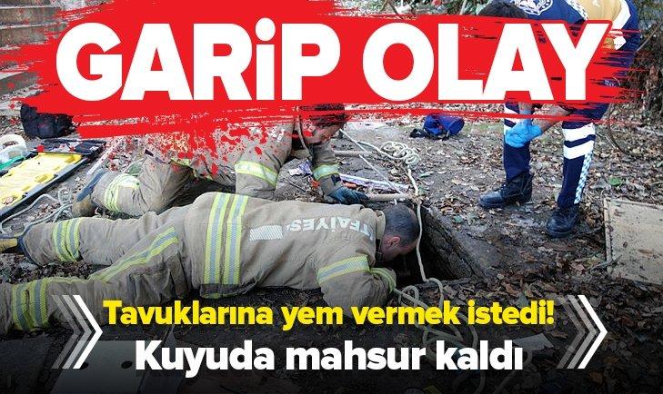 KADIKÖY'DE GARİP OLAY! TAVUKLARINA YEM VERMEK İSTEDİ...