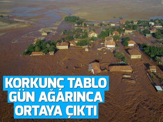 ANTALYA'NIN ELMALI İLÇESİNDEKİ SELDEN ŞOKE EDEN KARE!
