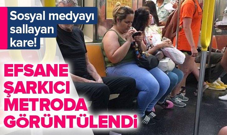 EFSANE ŞARKICI METRODA GÖRÜNTÜLENDİ!