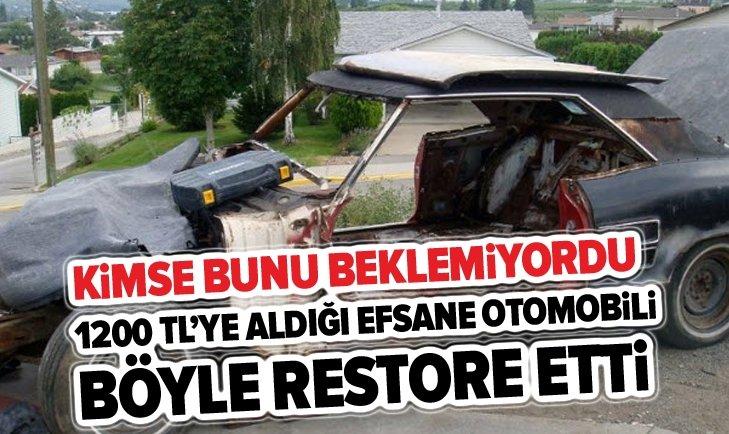 1200 TL'YE ALDIĞI FORD MUSTANG'İ BÖYLE RESTORE ETTİ!