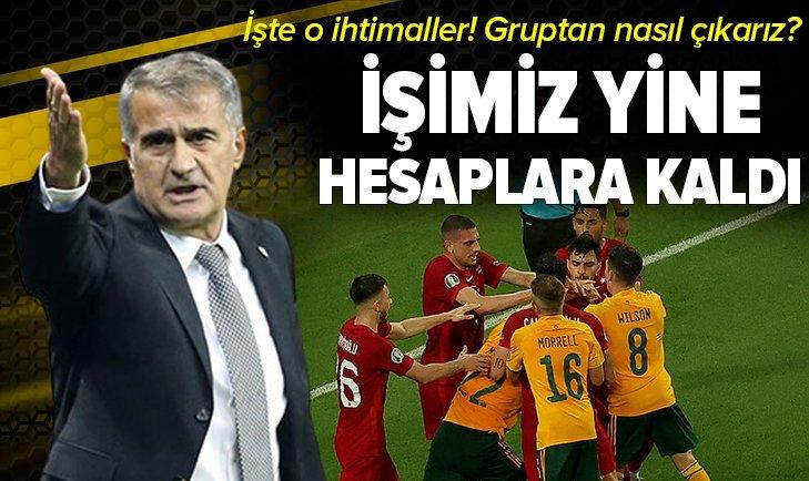 Türkiye A Milli Takımı EURO 2020 grubundan nasıl çıkabilir? Galler maçı sonrası hesaplar karıştı
