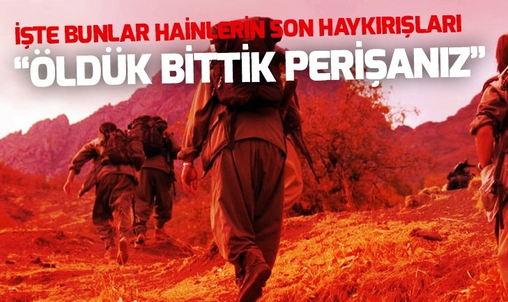 TERÖRİSTLER 'ÖLDÜK, BİTTİK, PERİŞANIZ'