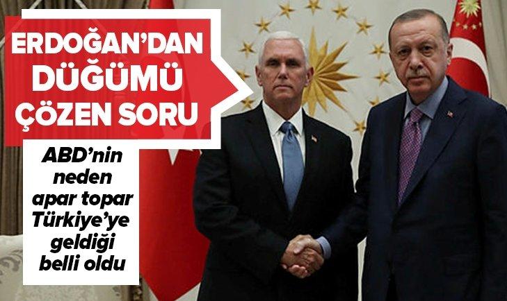 ERDOĞAN'IN TRUMP'A SORDUĞU SORU DÜĞÜMÜ ÇÖZDÜ!