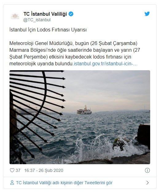İstanbul Valiliğinden lodos uyarısı! Bazı seferler iptal edildi 1