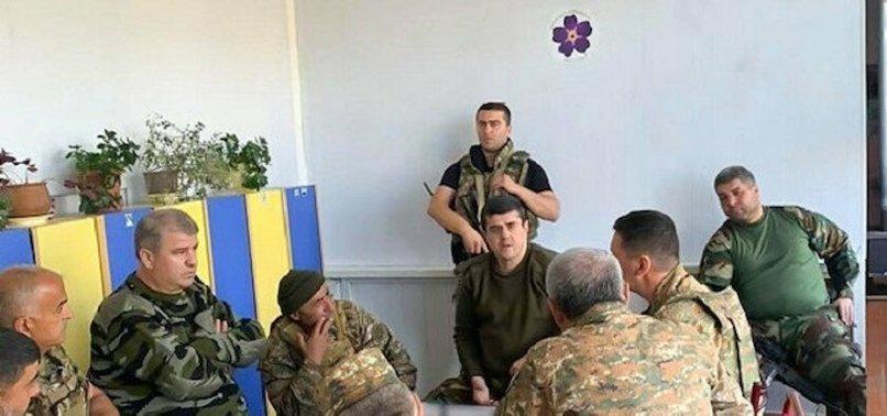 Sözde Karabağ lideri Arayik Harutyan'ın SİHA paniği! Toplantıyı anaokulunda yaptılar