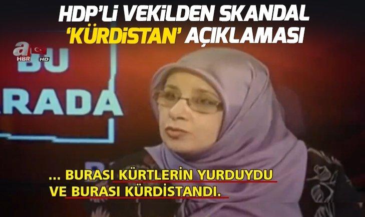 HDP'Lİ VEKİLDEN SKANDAL KÜRDİSTAN AÇIKLAMASI