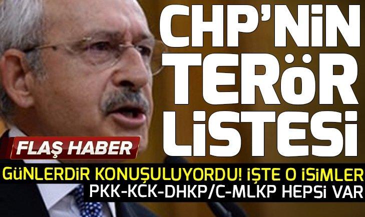 Skandal liste ortaya çıktı! İşte CHP listesindeki terör bağlantılı isimler