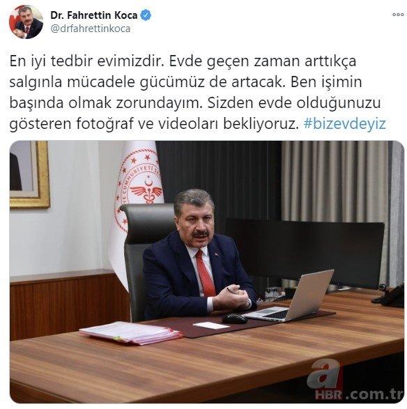 Sağlık Bakanı Fahrettin Koca destek istedi onbinler fotoğraf paylaştı