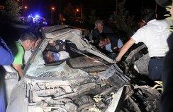 Karaman'da trafik kazası: Herkes seferber oldu